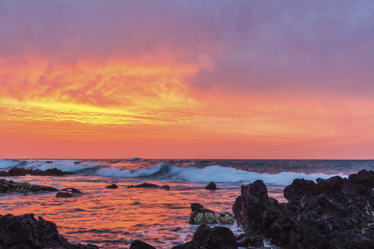 Oahu Sunrise Mural Wallpaper Additional Thumbnail