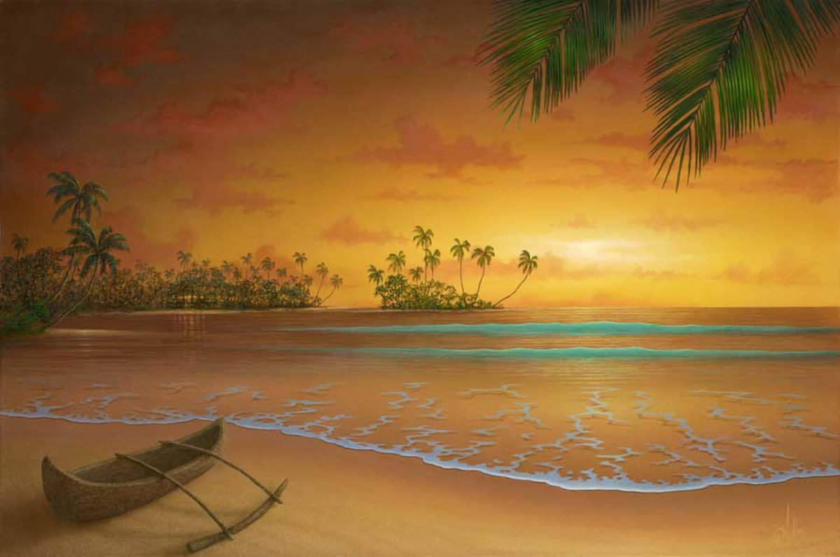Island Passion Wall Mural Sample