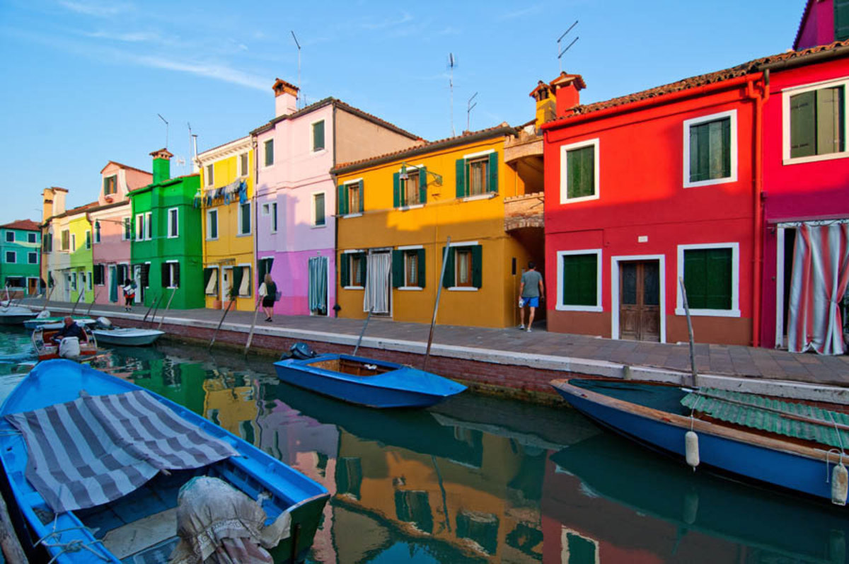 Italy Venice Burano Island With Traditional Colorful Houses Mural Wallpaper Additional Thumbnail