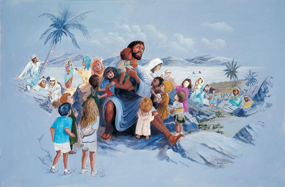Jesus And The Children Wall Mural Sample