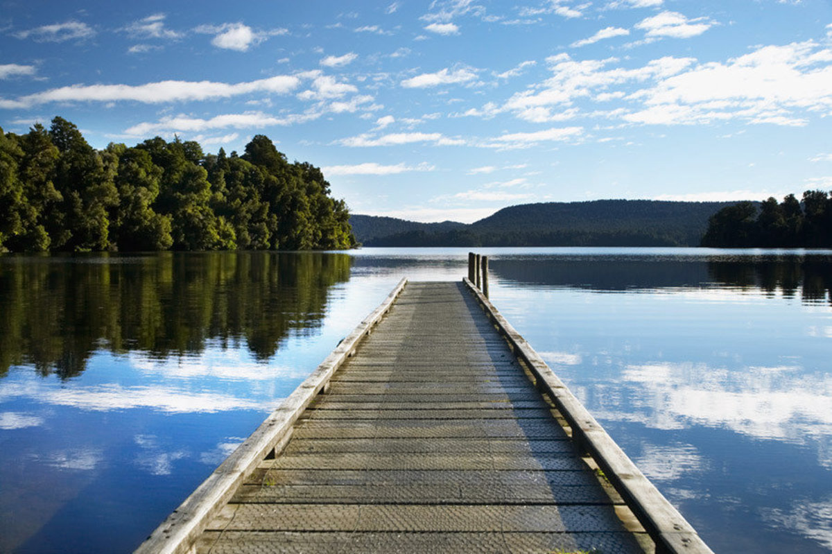 Image for Jetty, Lake Mapourika