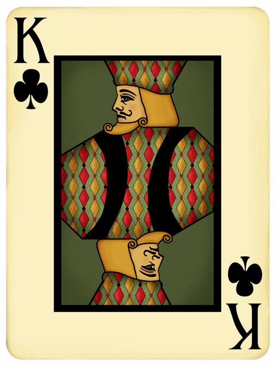 King Playing Card Wallpaper Mural