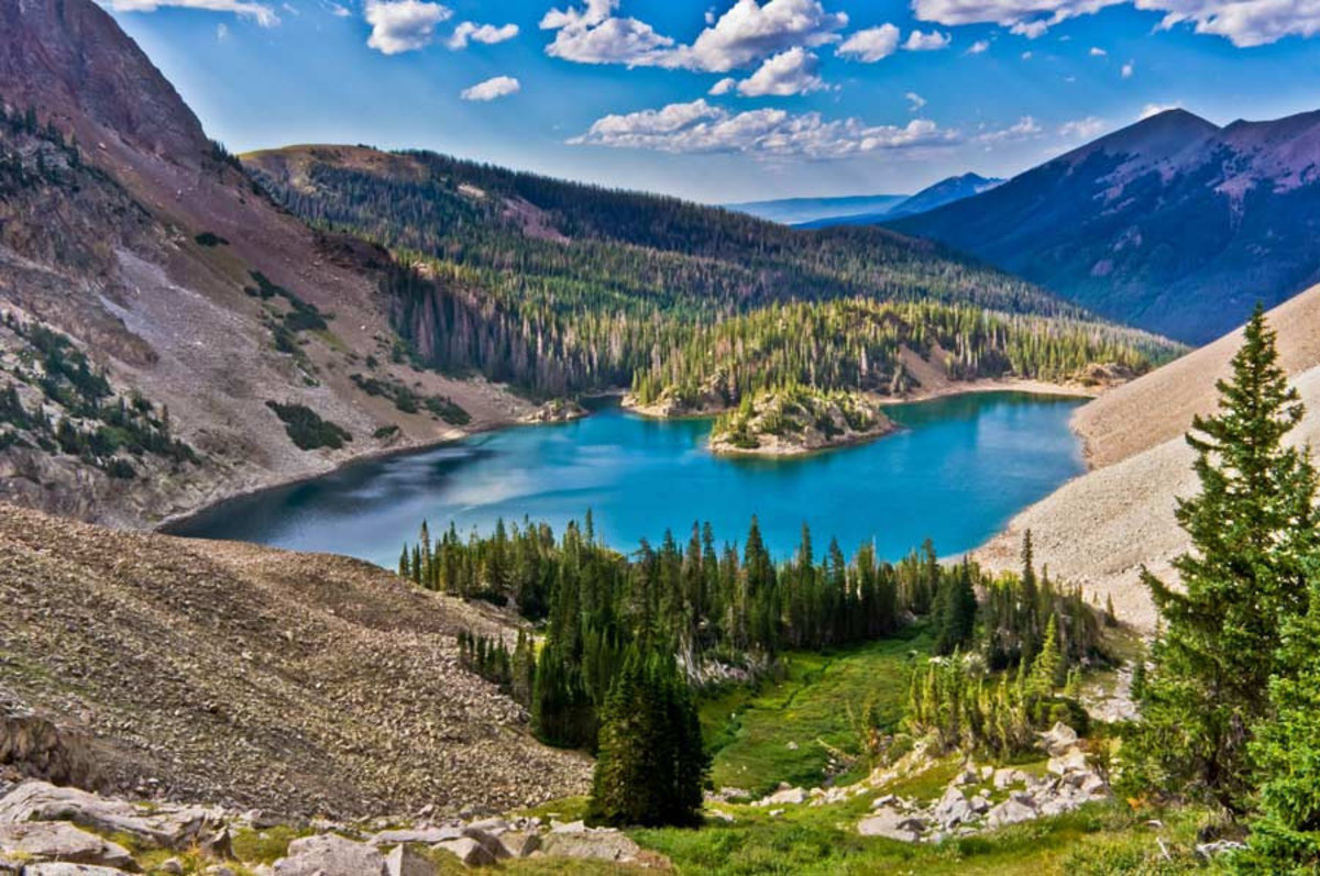 Lake Agnes, Colorado Forest State Park Wall Mural Sample