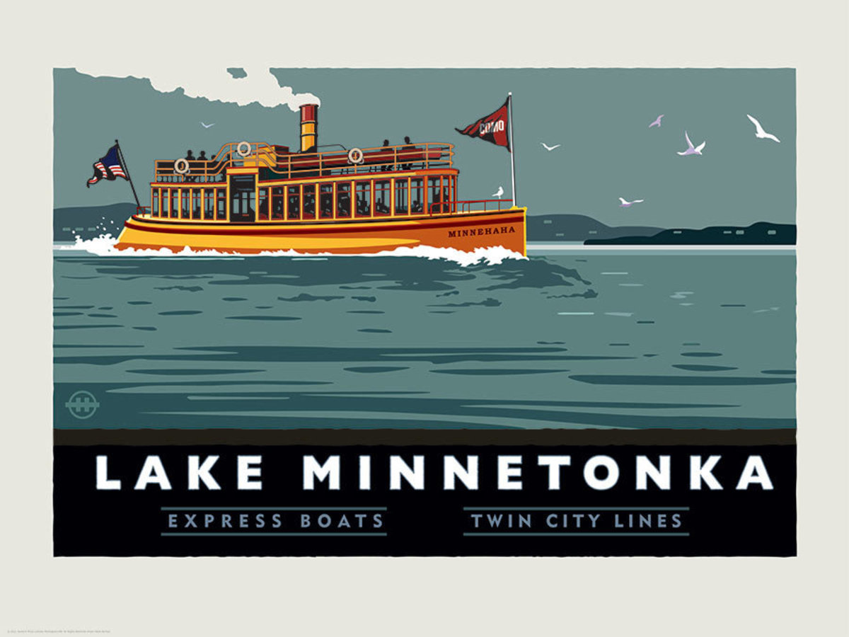 Lake Minnetonka Express Boats Wall Mural Additional Thumbnail