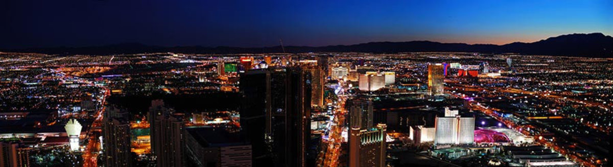 Las Vegas Panorama Mural Wallpaper Sample