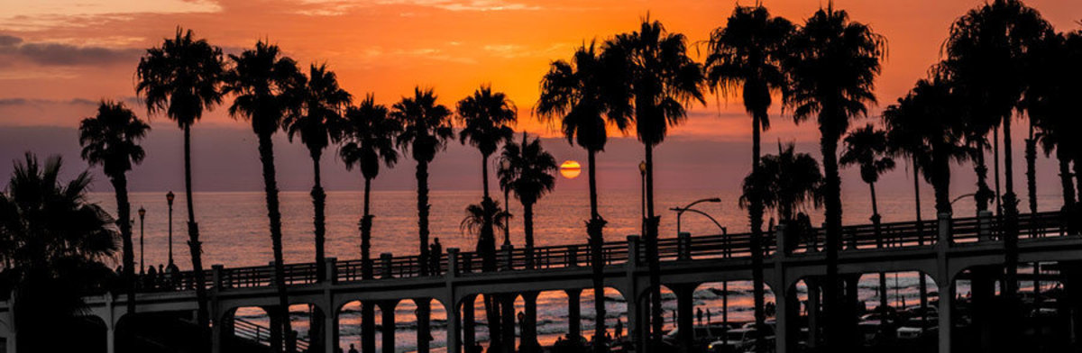 Image for Last Moments of Sunset in Oceanside