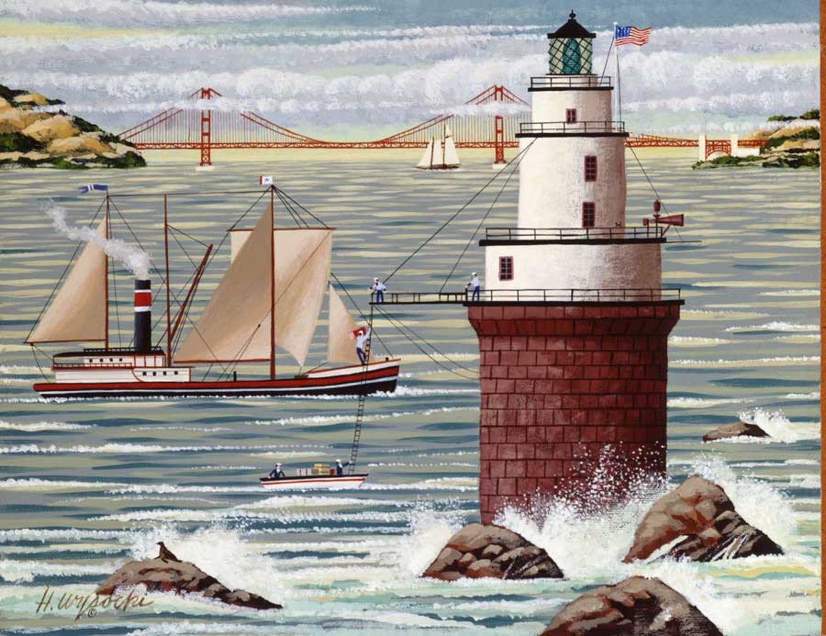 Lighthouse Repairs Wall Mural Additional Thumbnail