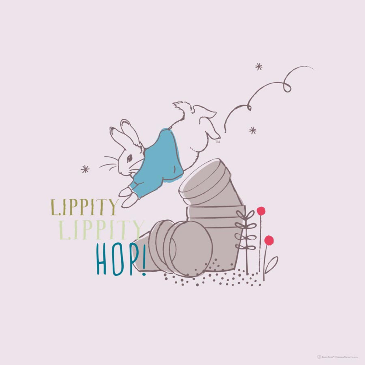Lippity Lippity Hop Wall Mural Additional Thumbnail