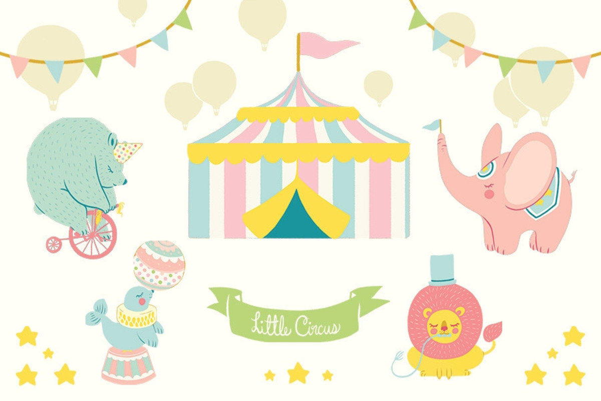 Little Circus Wallpaper Mural Sample