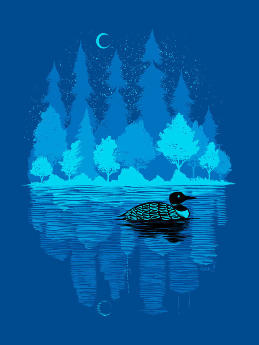 Loon In The Dark Wall Mural Additional Thumbnail
