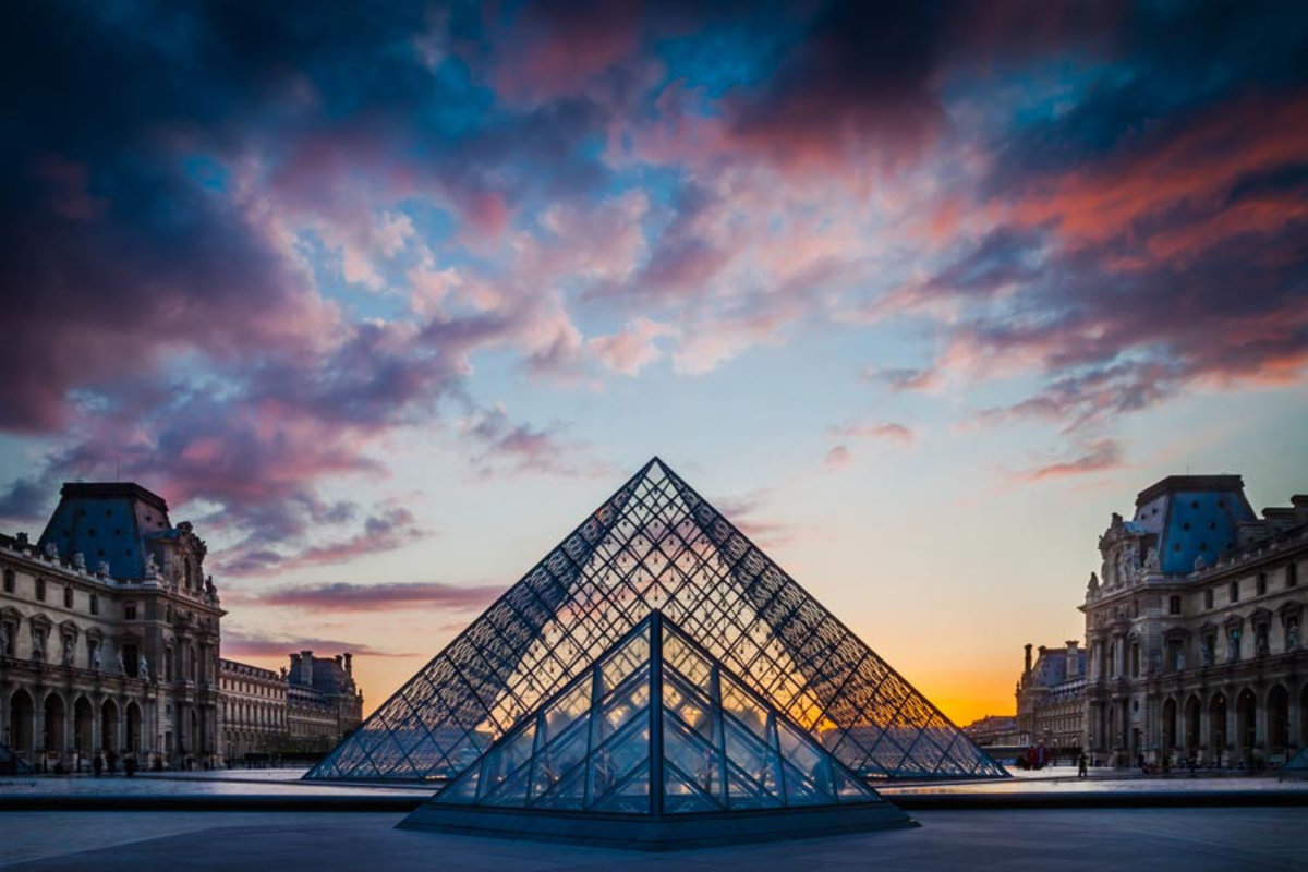 Image for Louvre Courtyard Sunset