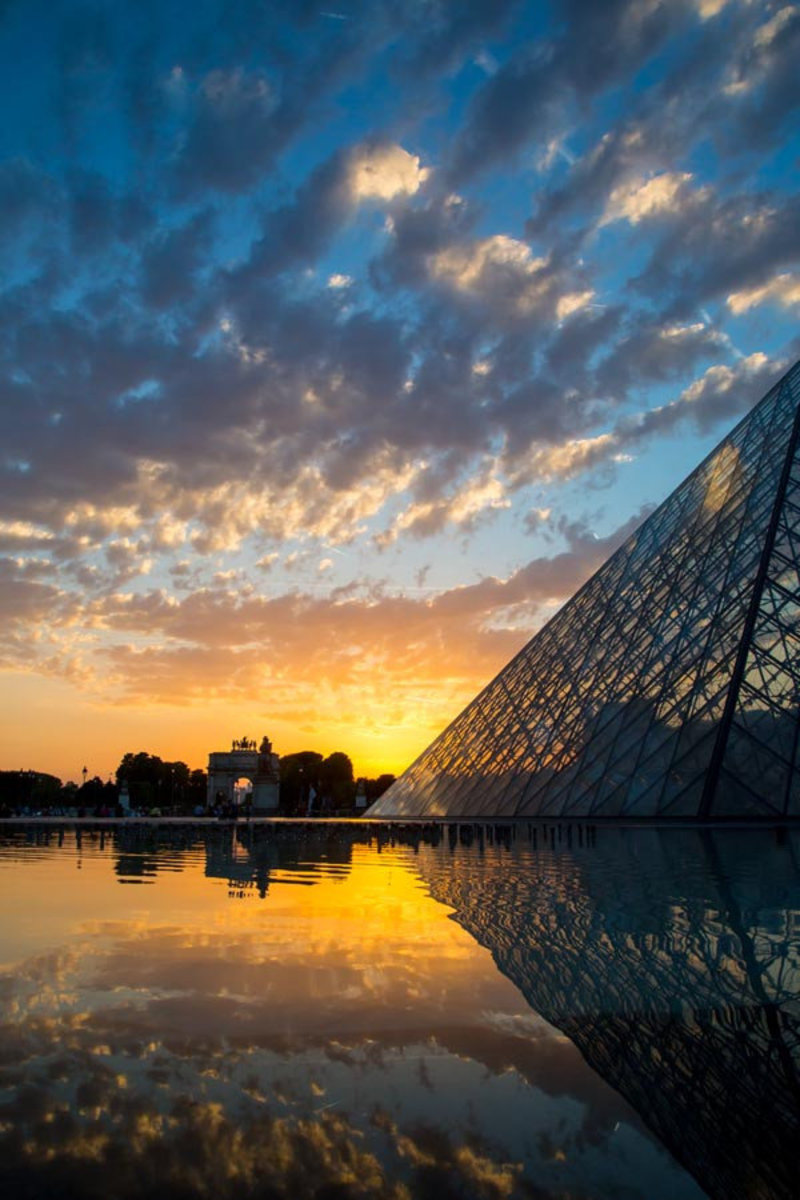 Image for Louvre Sunset Reflections