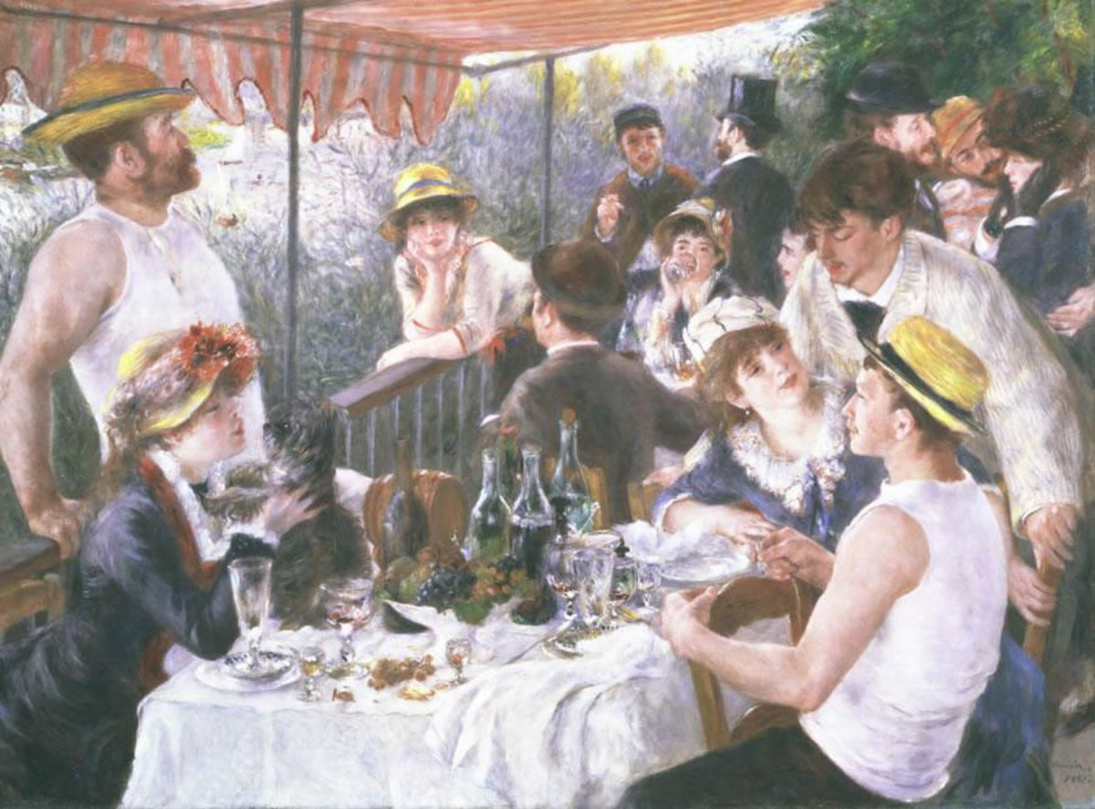 Luncheon of the boating party painting by artist Renoir