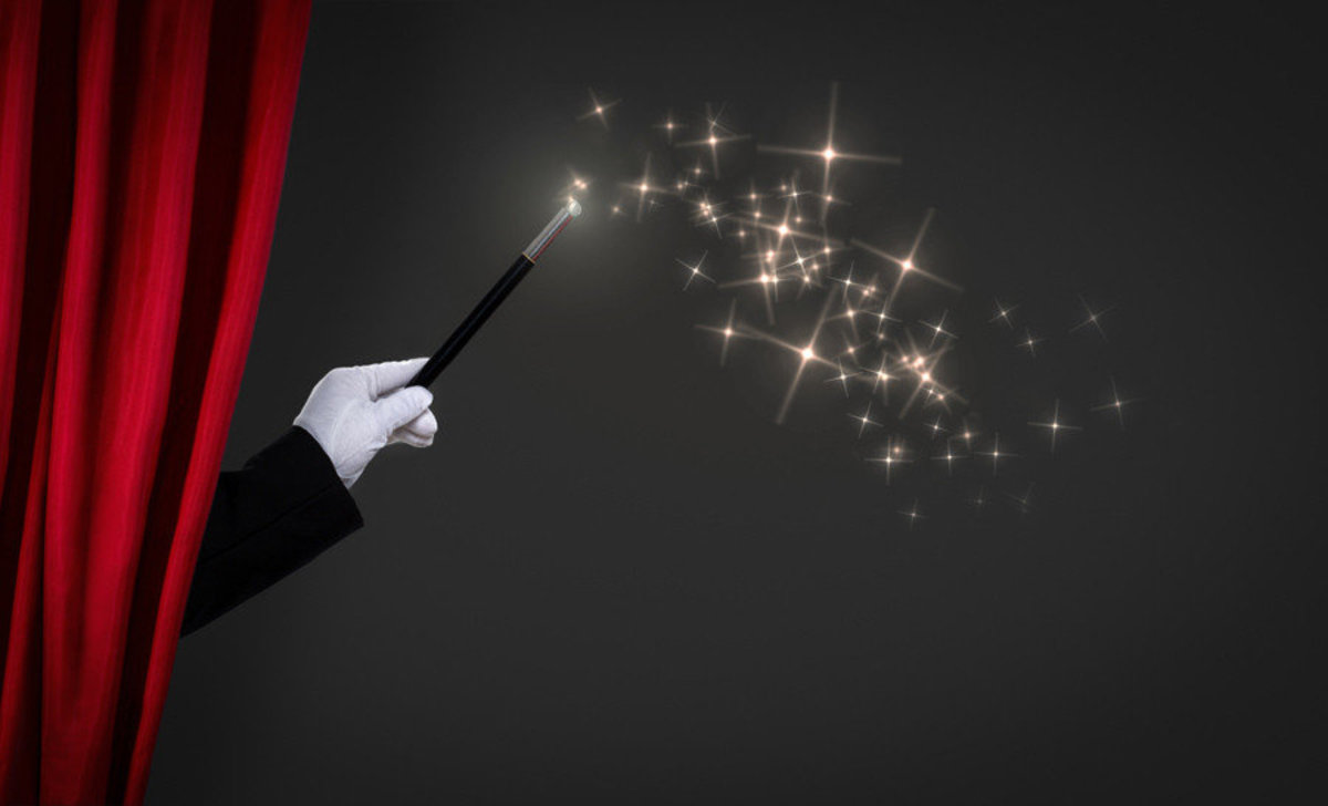 Magic Wand On Stage Mural Wallpaper Additional Thumbnail