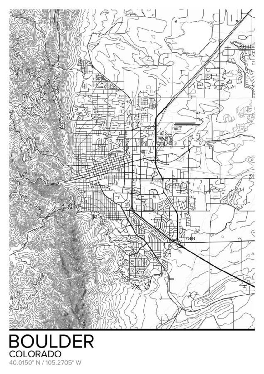 Map Of Boulder, CO Additional Thumbnail