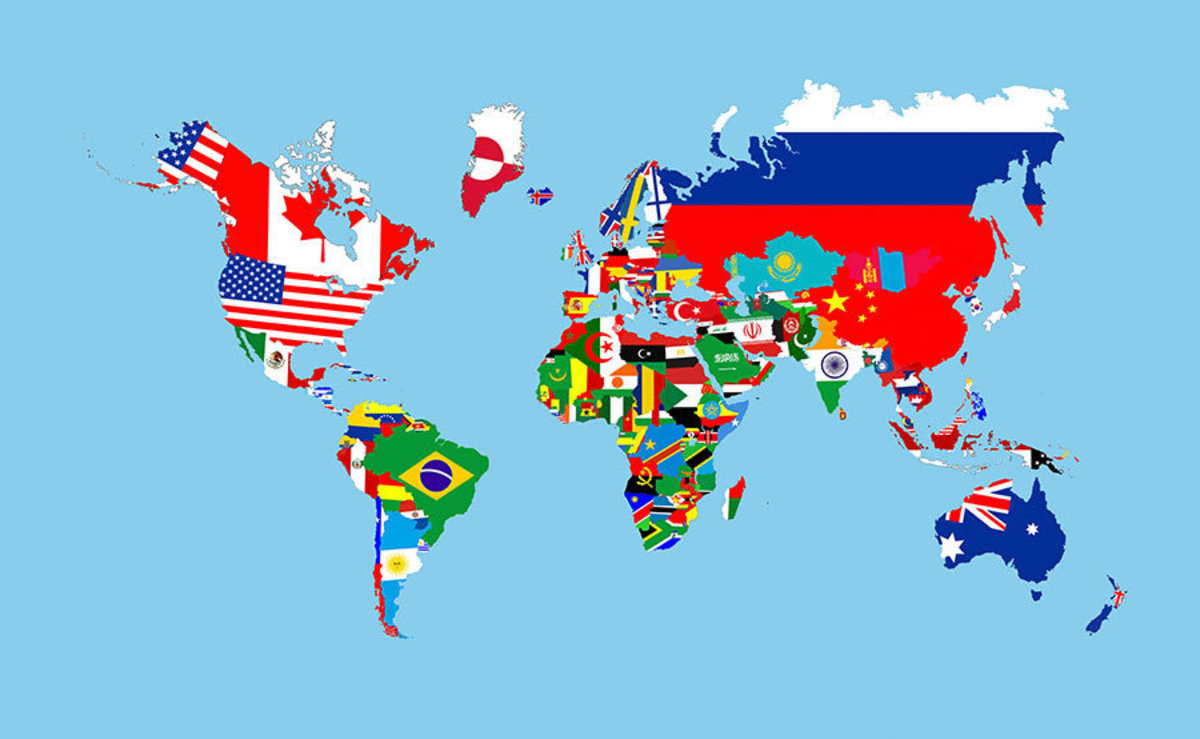 Map of Country Flags Wall Mural Additional Thumbnail