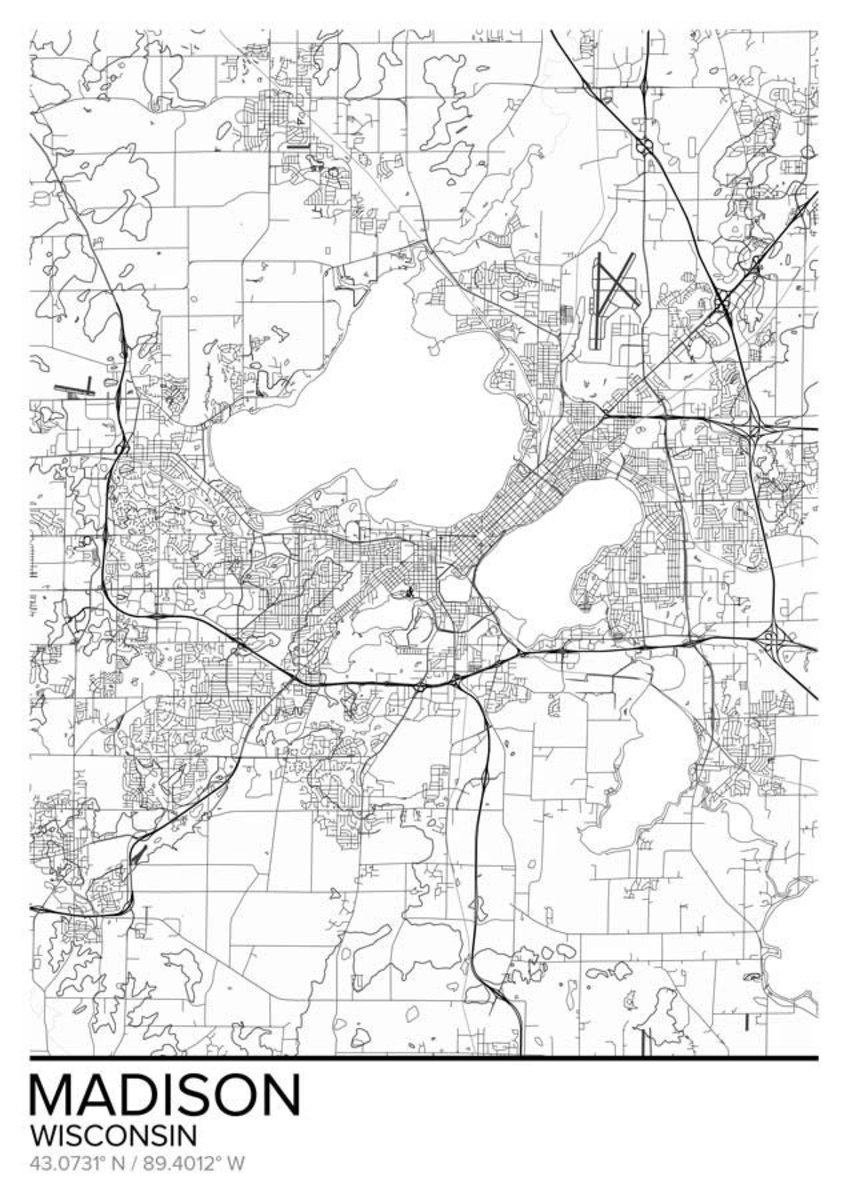 Map Of Madison, WI Sample