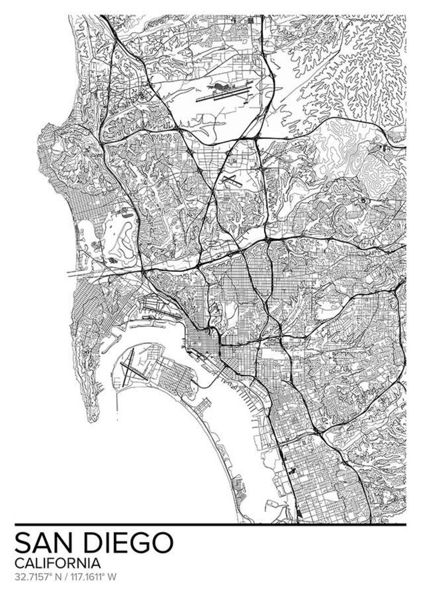 Map Of San Diego, CA Additional Thumbnail