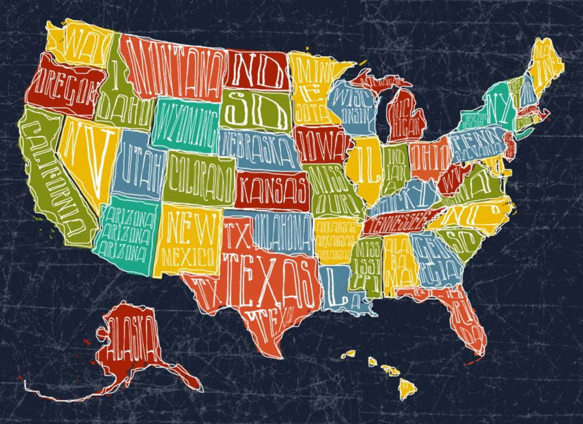 Map USA Wall Mural Additional Thumbnail