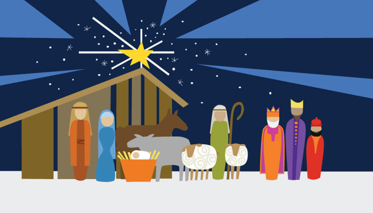 Image for Modern Nativity At Night