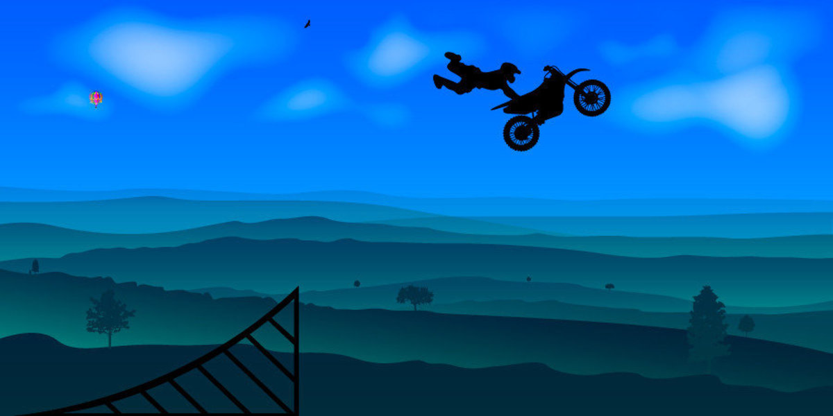 Image for Motocross Superman With Mountains