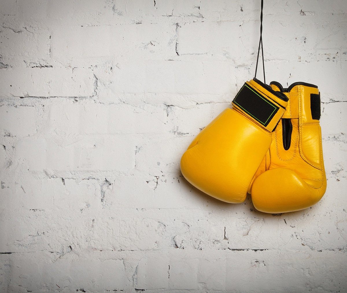 Yellow Boxing Gloves Wall Mural Additional Thumbnail