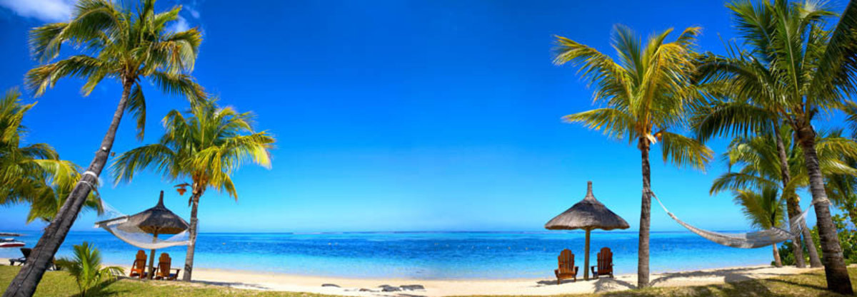 Panoramic View of Mauritius Beach Mural Wallpaper Additional Thumbnail