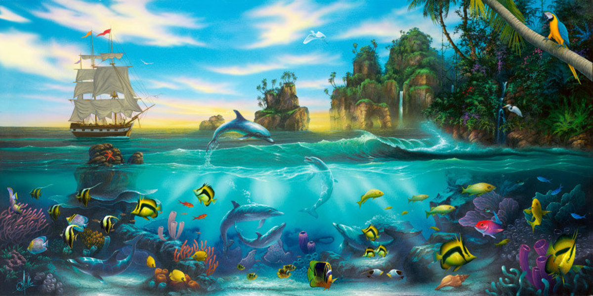 Paradise Found Mural Wallpaper Additional Thumbnail