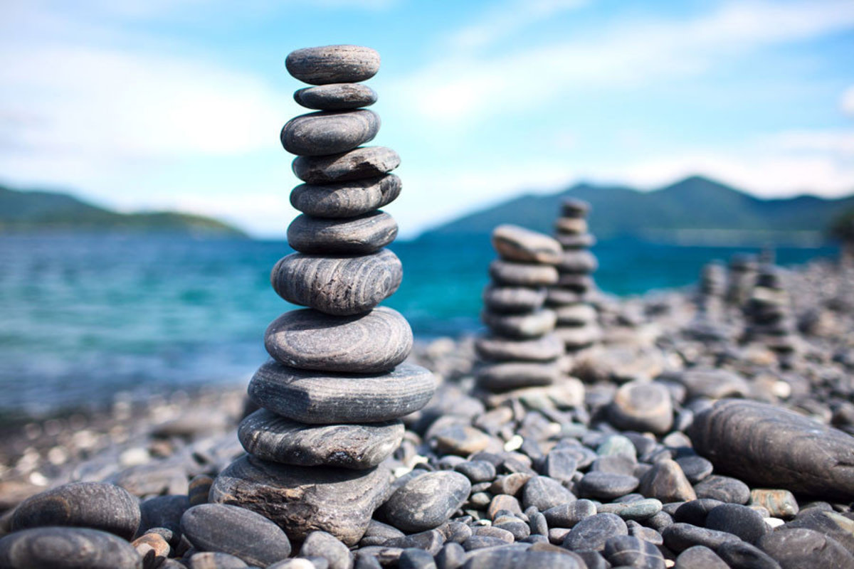 Tower of rock pebbles Sample