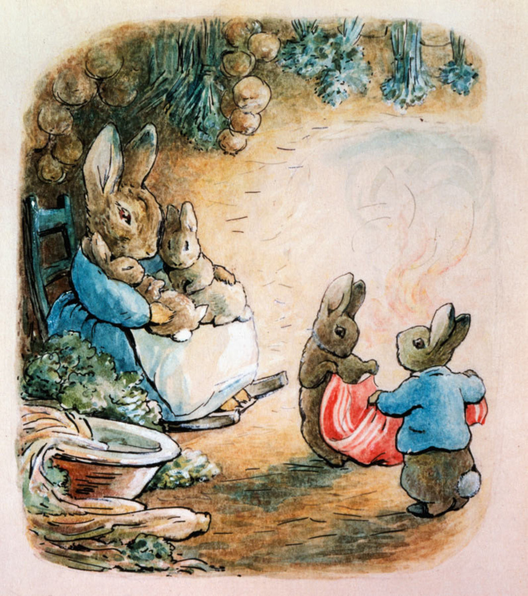 Image for Peter & Cotton-Tail Folded Up The Pocket Handkerchief