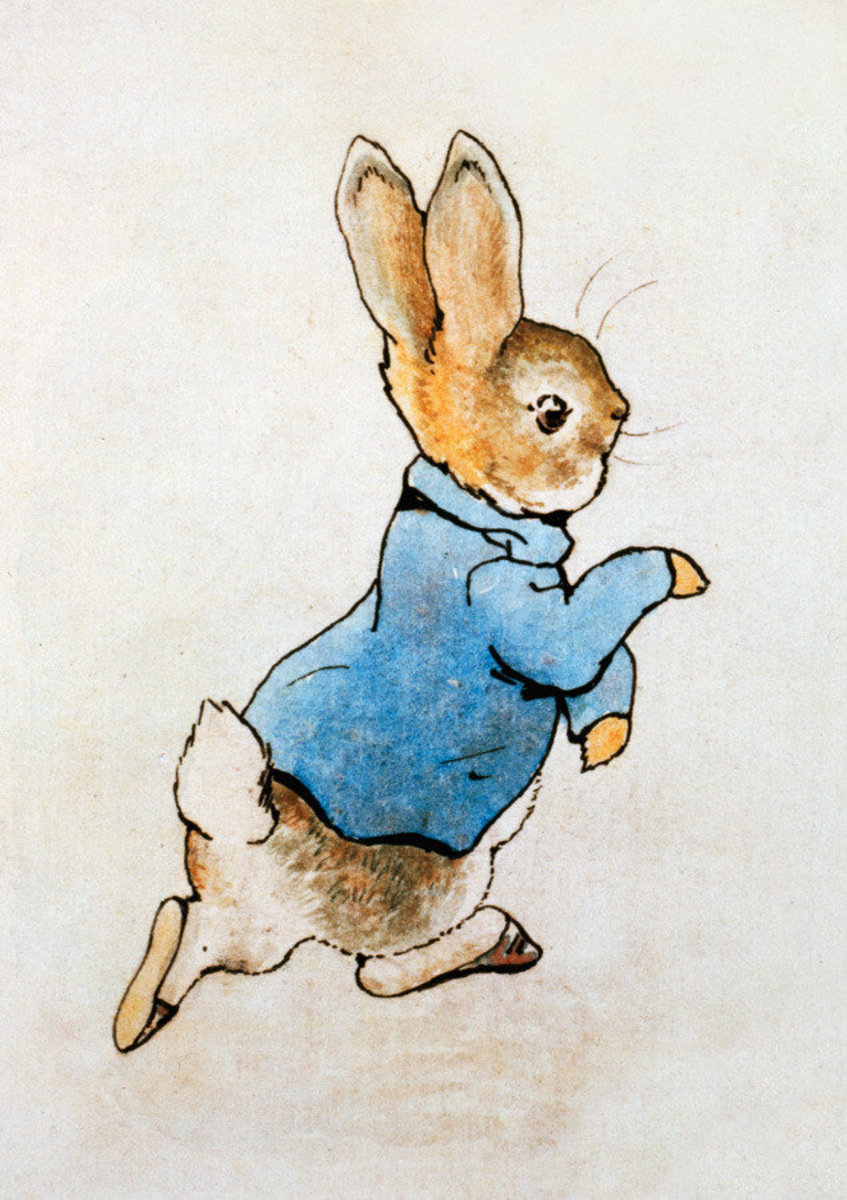 Peter Rabbit Running Wall Mural Sample