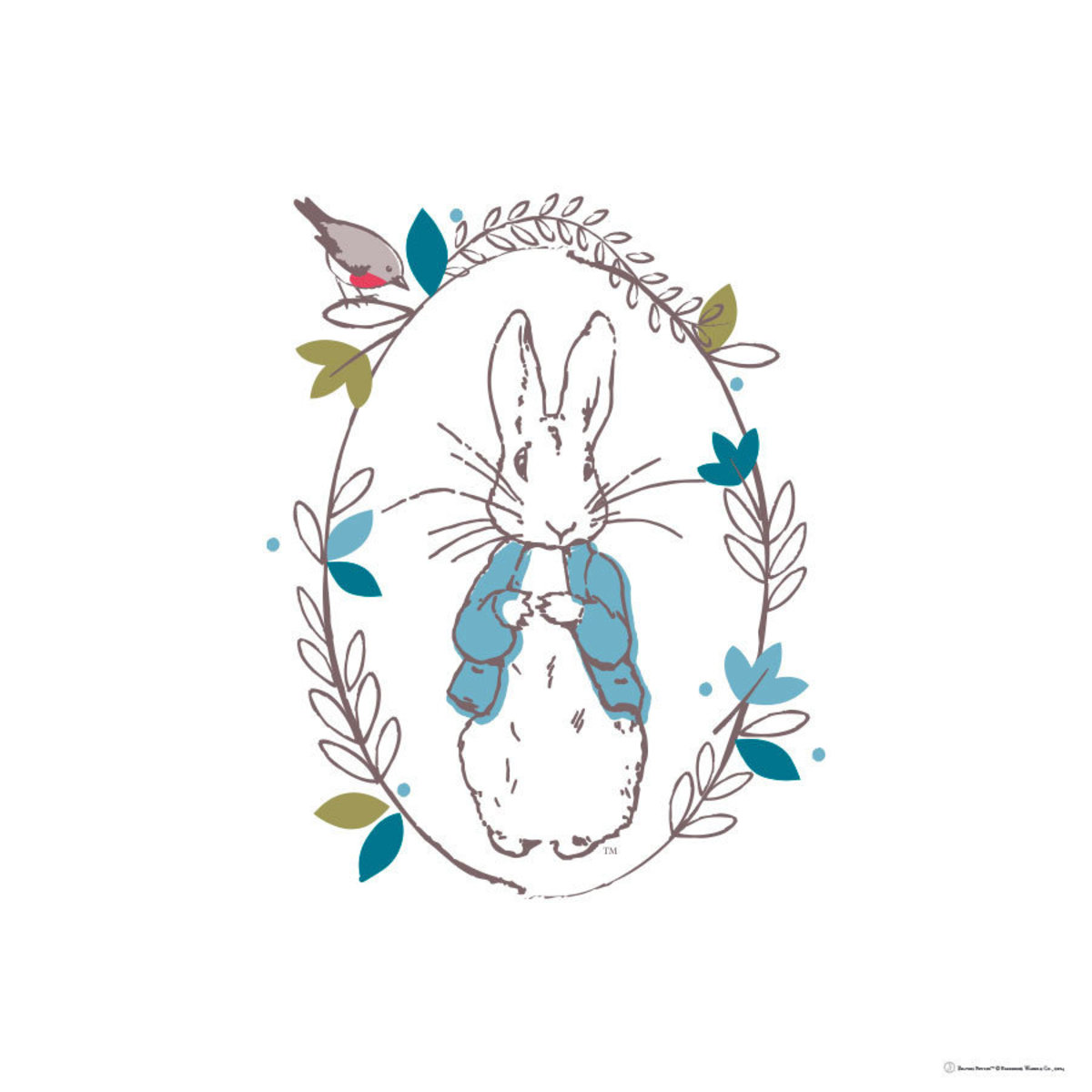 Image for Peter Rabbit Thinking - Line
