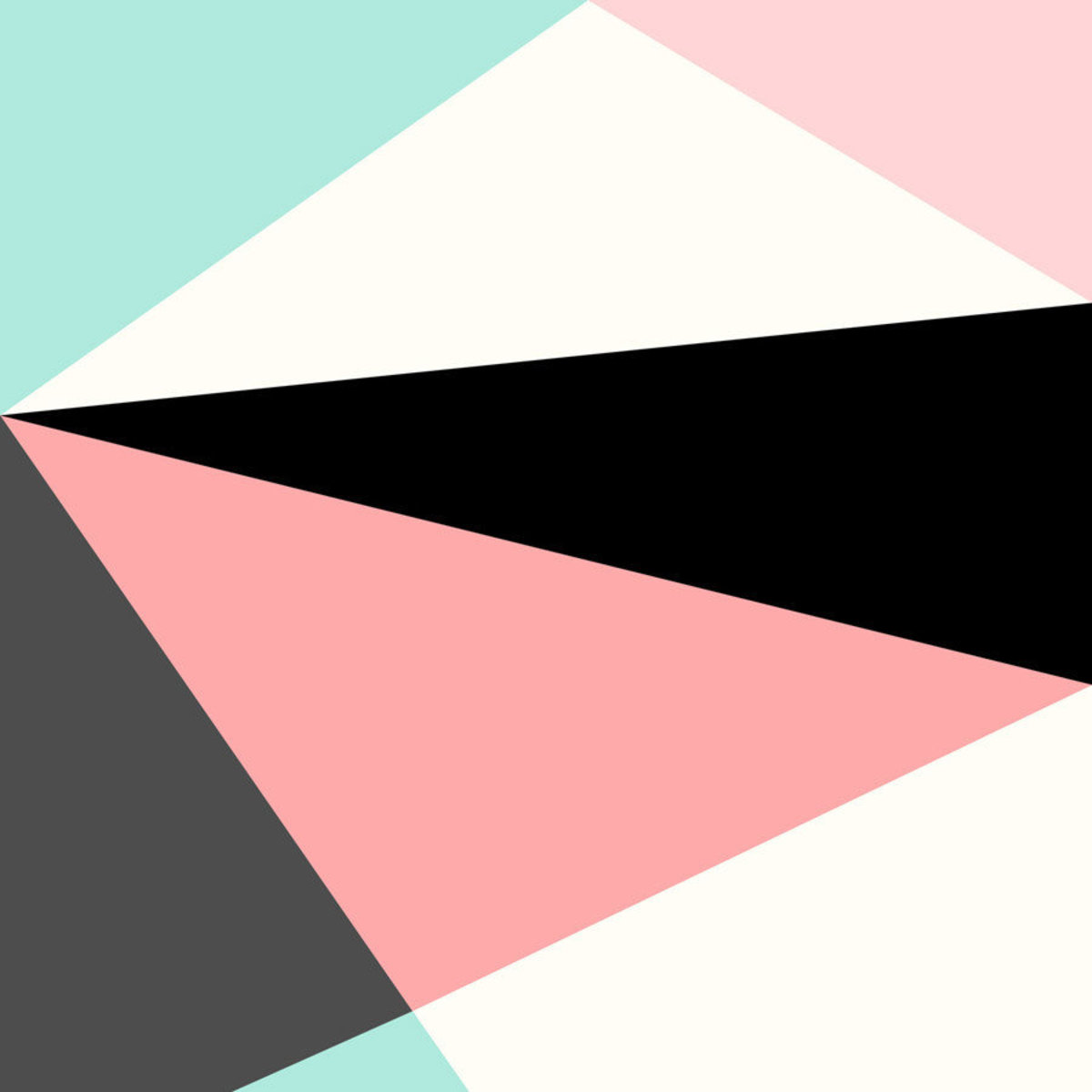 geometric design with pastel tones, simplistic lines and bold color blocks Sample