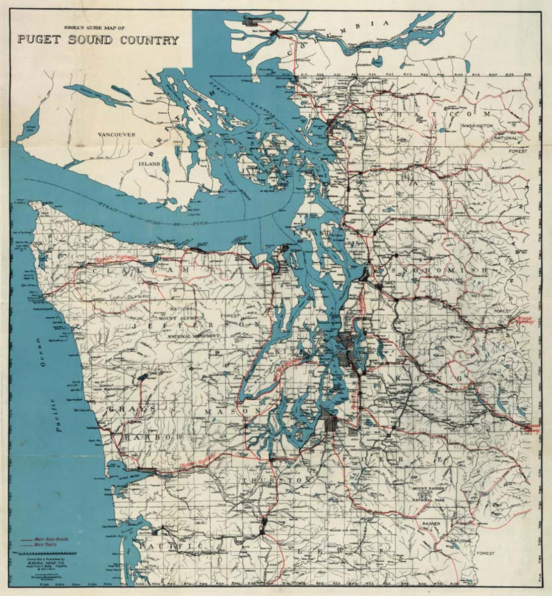 Puget Sound County 1919 Map Sample