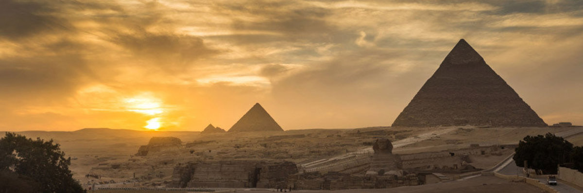 Pyramid Of Giza In Egypt Sample