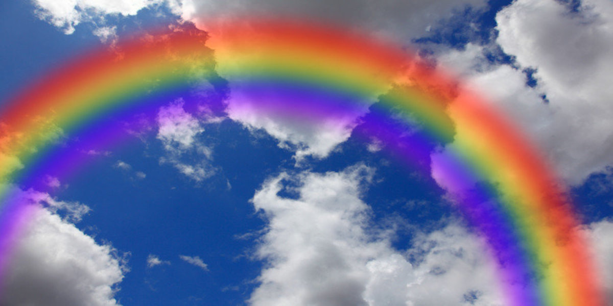 Rainbow Cloudy Sky Mural Wallpaper Additional Thumbnail