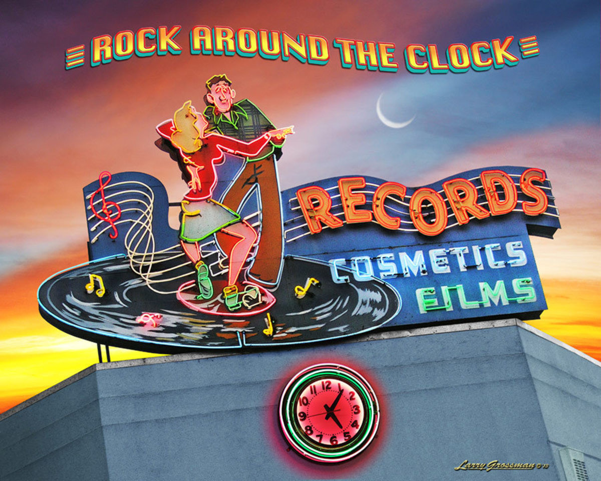 Rock Around the Clock Records Wall Mural Additional Thumbnail