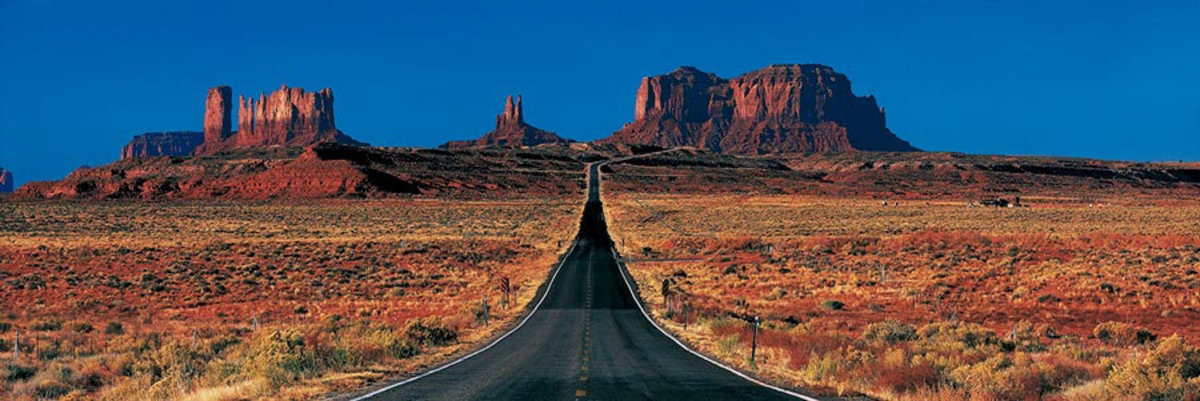 Route 163 Monument Valley Tribal Park Mural Wallpaper Sample