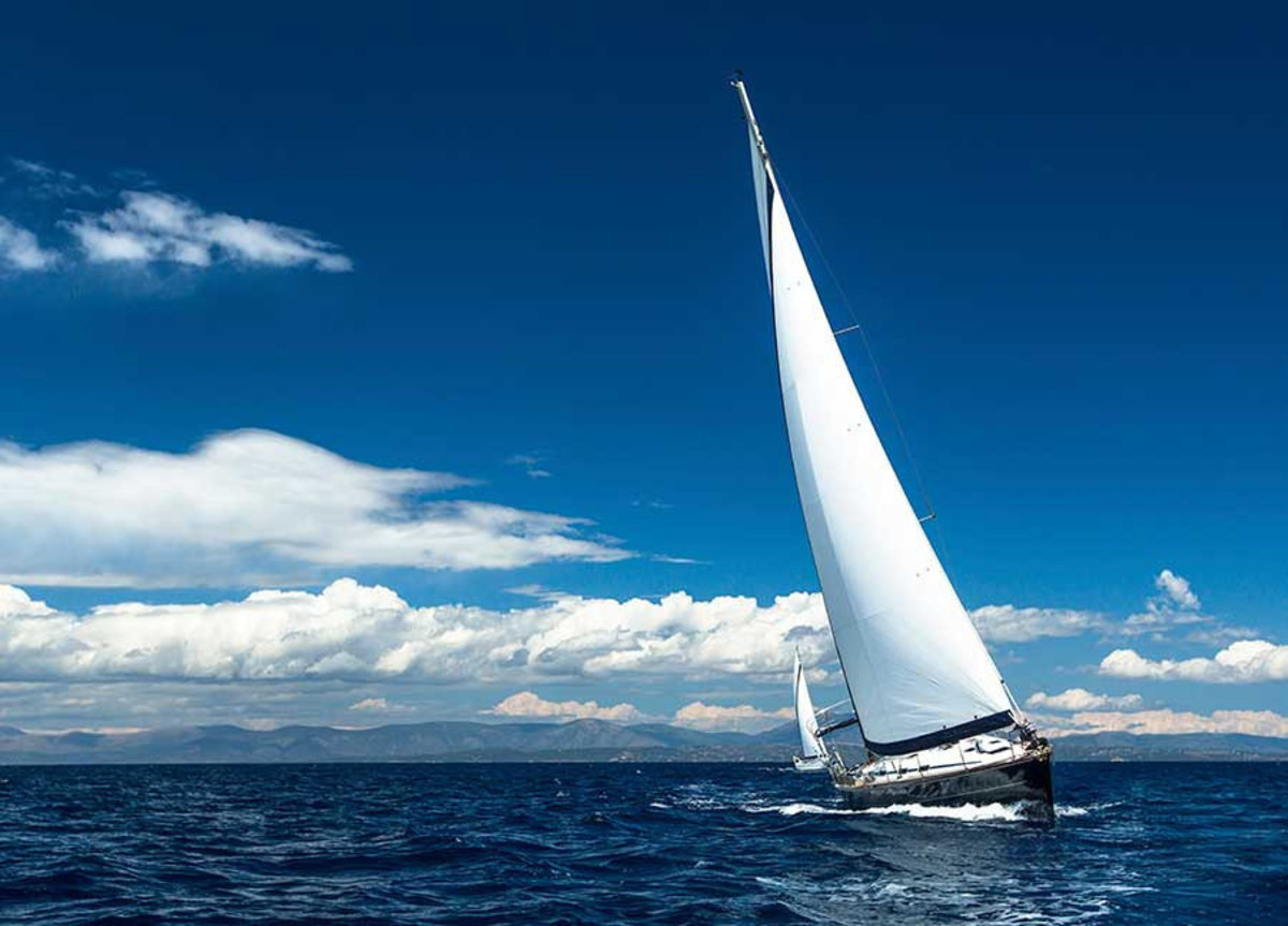 Sailboat In The Wind Mural Wallpaper Additional Thumbnail
