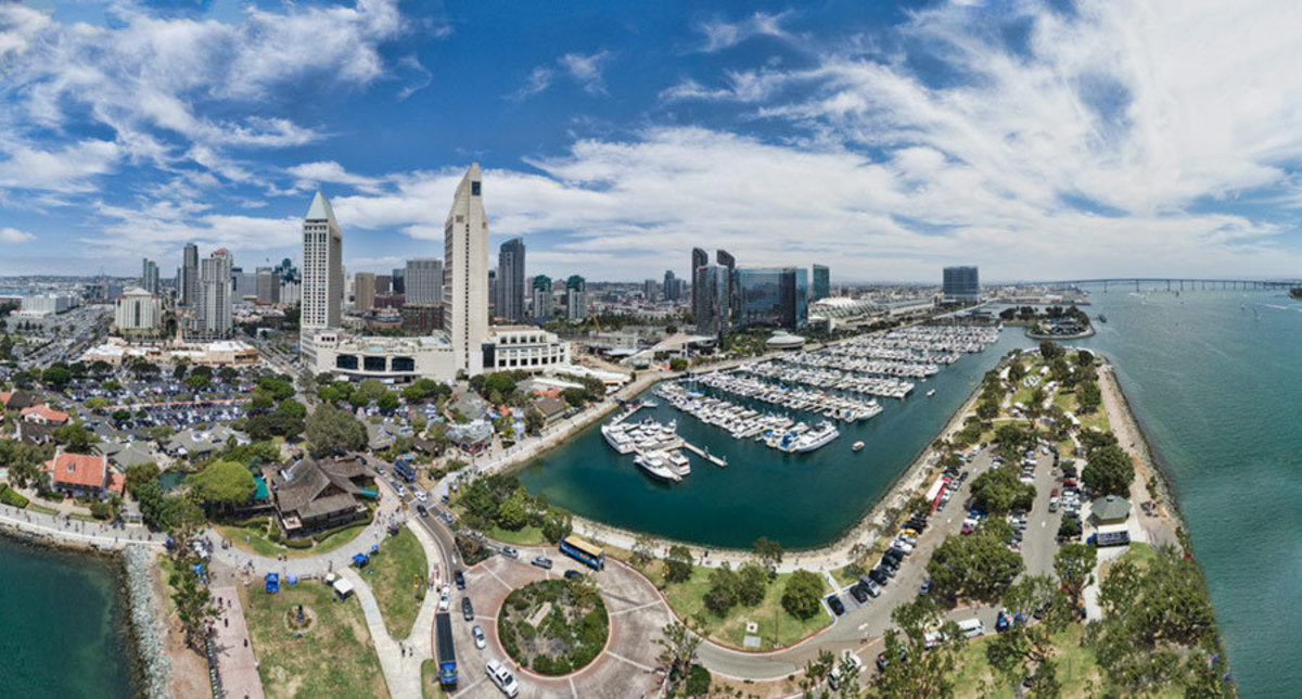San Diego Waterfront and Hotel District Wallpaper Mural Additional Thumbnail