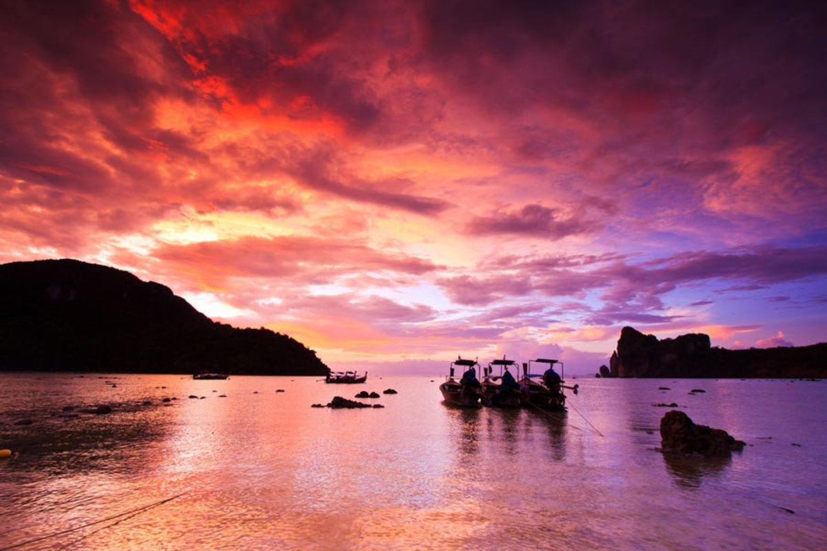 Sunset At Phi Phi Island Sample
