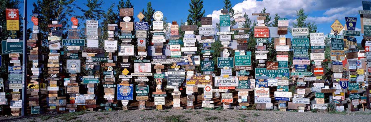Sign Post Forest Yukon, Canada Wall Mural Sample