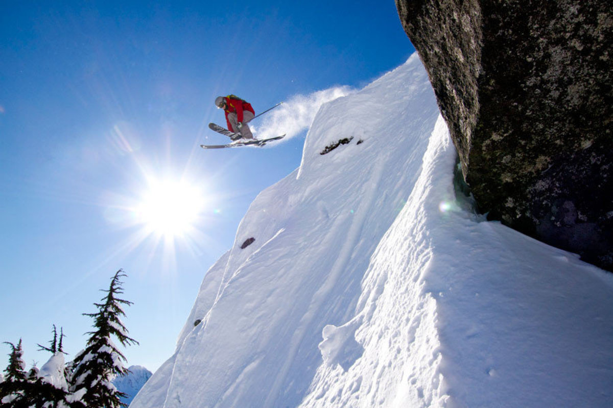Skiing Stevens Pass Backcountry Wallpaper Mural