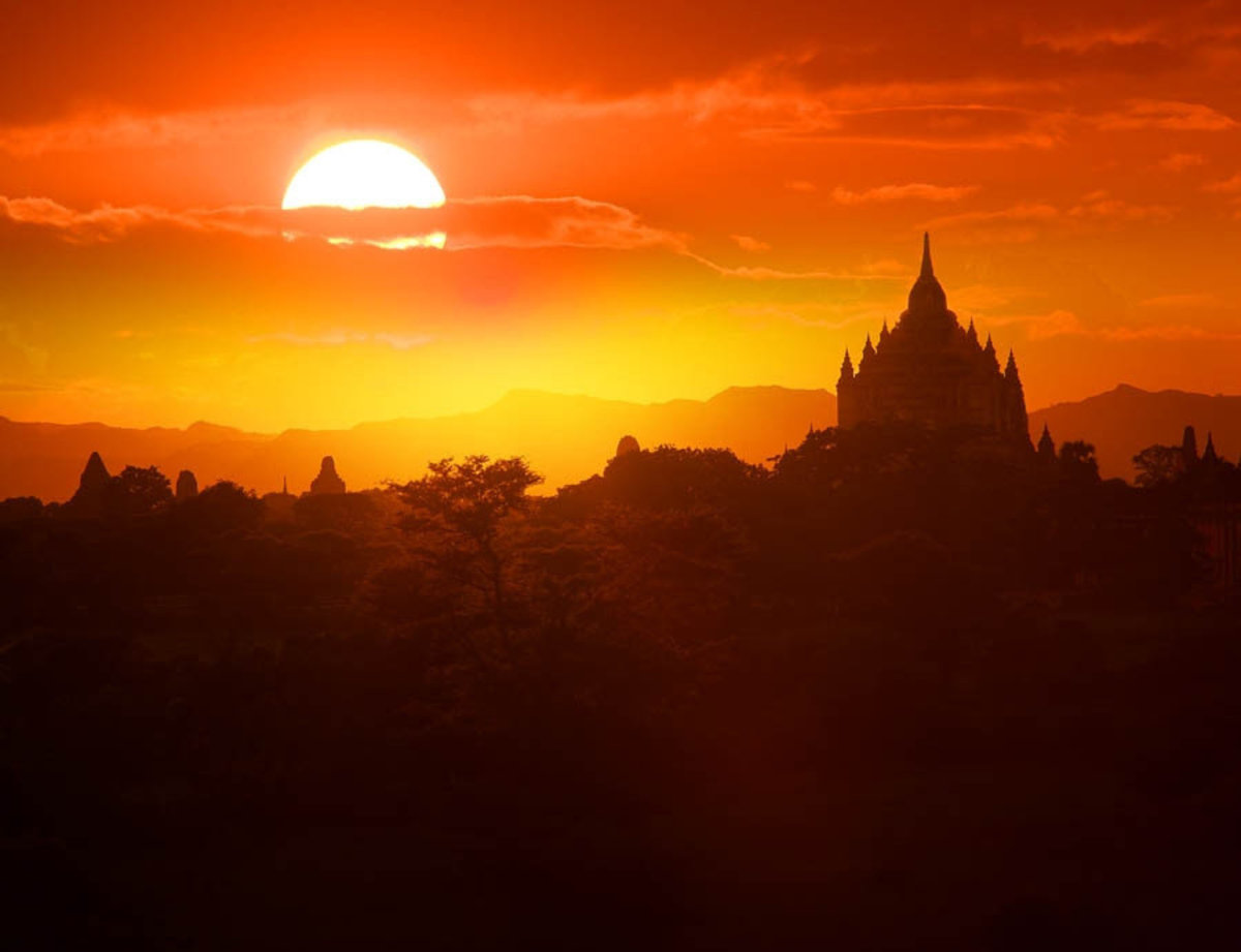 Sunset in Bagan Wallpaper Mural Additional Thumbnail