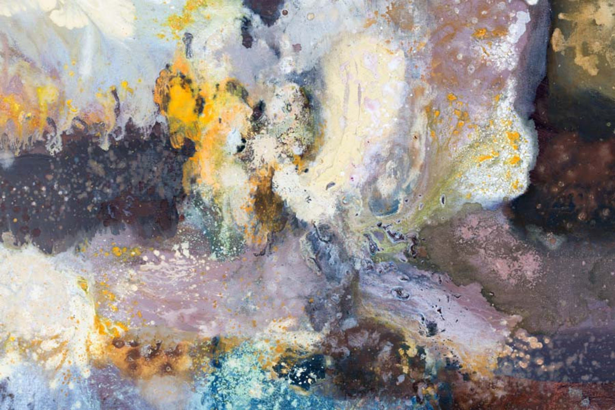 paint of varying hues and tones meld together to form a dreamy creation Additional Thumbnail