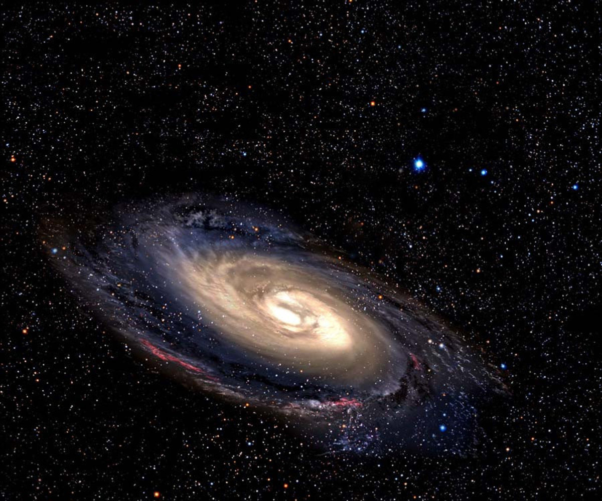 Spiral Galaxy In Deep Space Wall Mural Additional Thumbnail