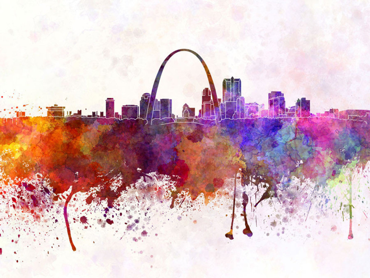 St Louis Skyline Watercolor Additional Thumbnail