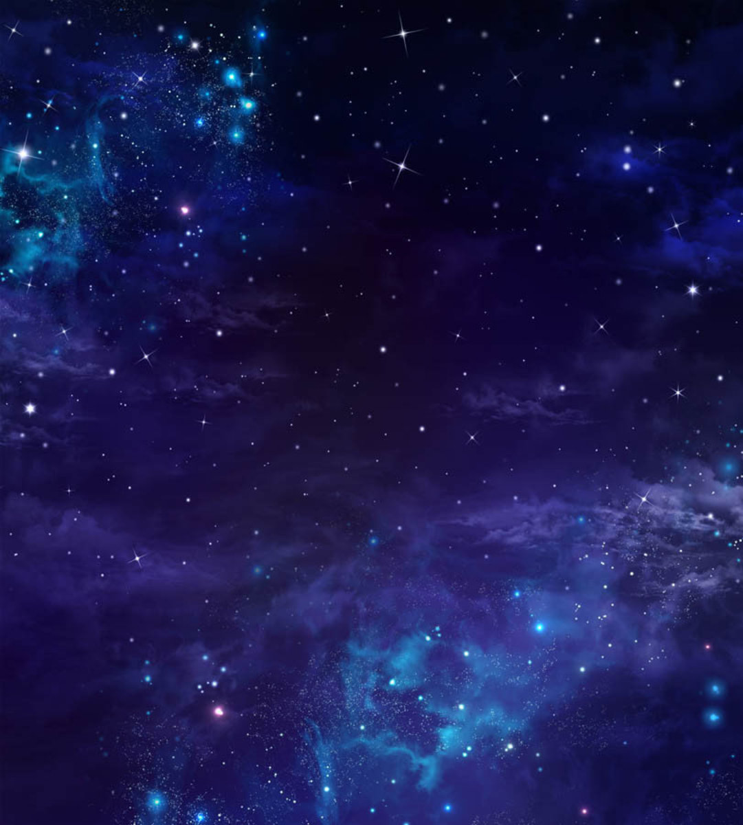 Glowing Galaxies in Outer Space Wall Mural