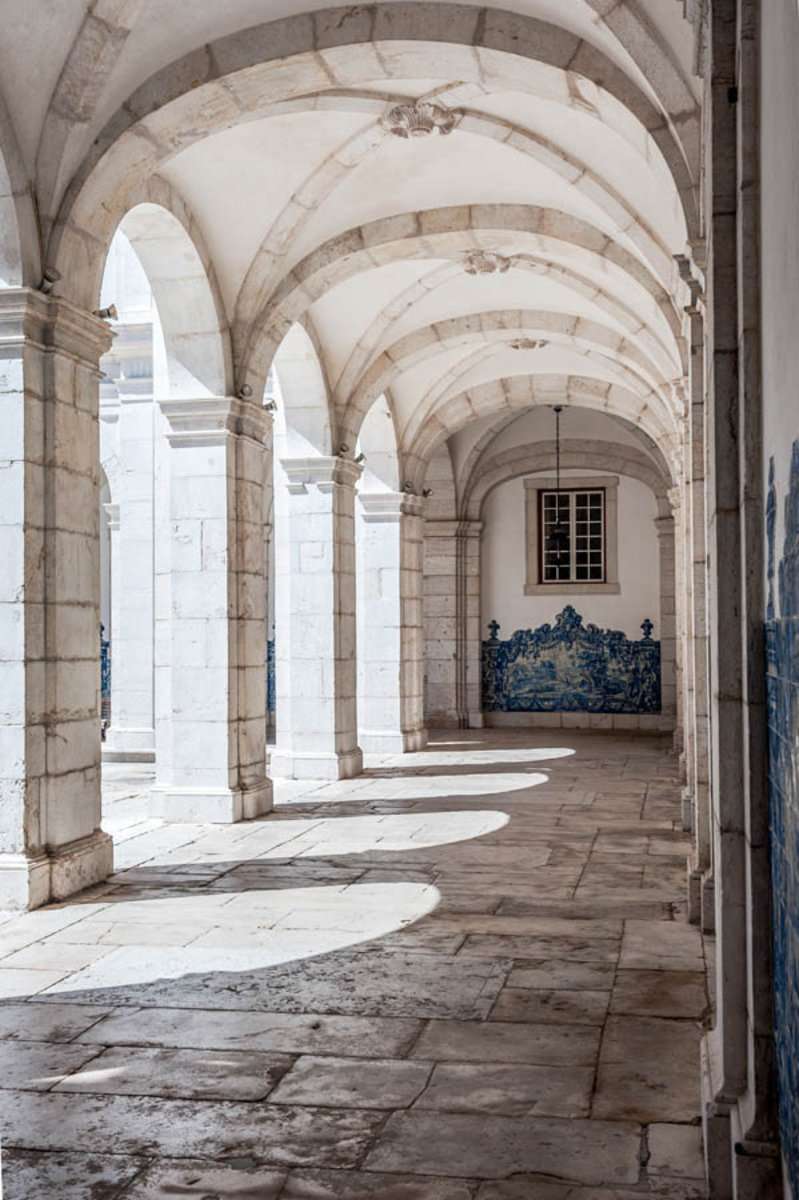 St. Vincent Monastery Arches Wallpaper Mural Sample