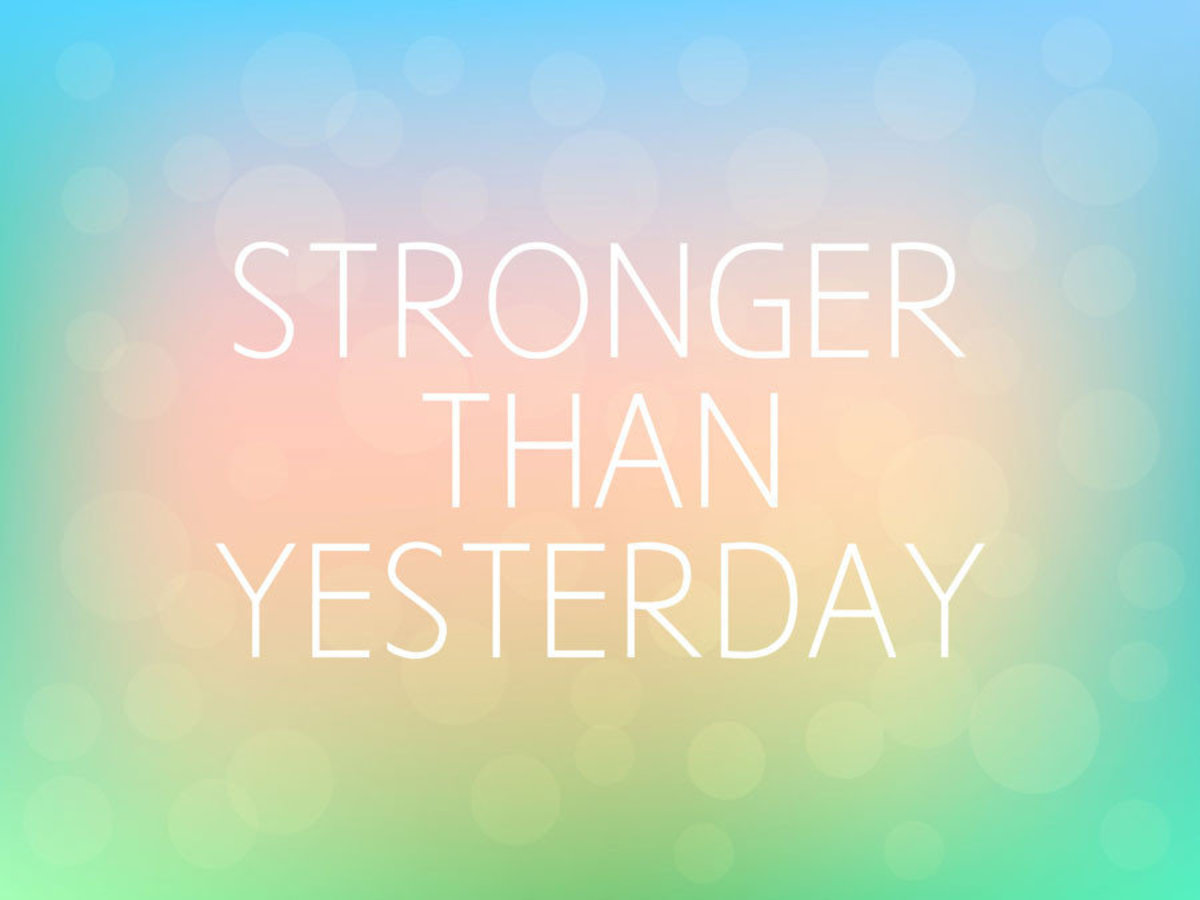 Stronger Than Yesterday quote message Additional Thumbnail